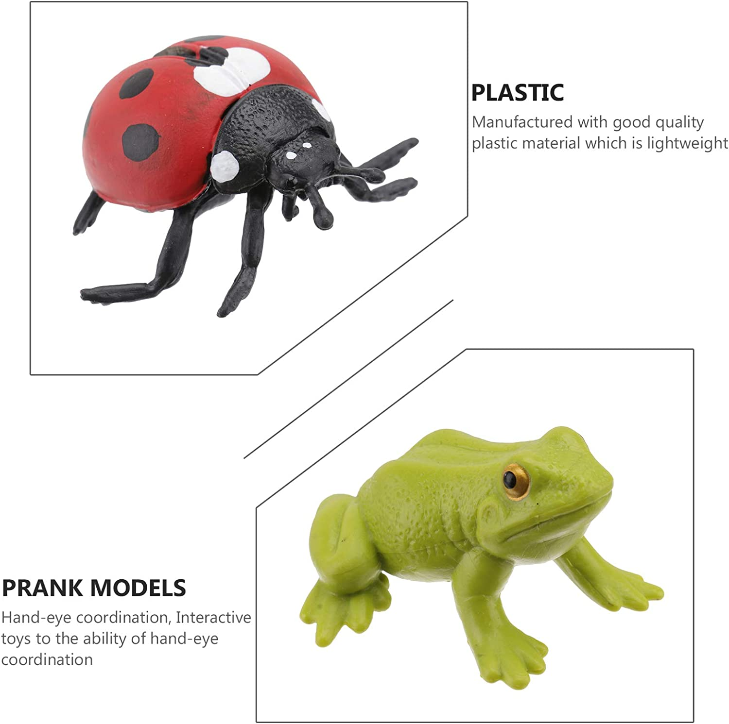 Toddmomy 3 Set Insect Life Cycle Figures Realistic Butterflies Frog Ladybug Life Cycle Model Toys Teaching Aids Educational Toys for Kids Children