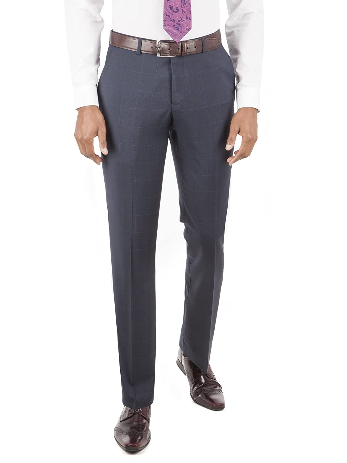 Suit Direct Alexandre Of England Navy Check Tailored Fit Suit Trouser - 0045141 Tailored Fit Mixer Trouser