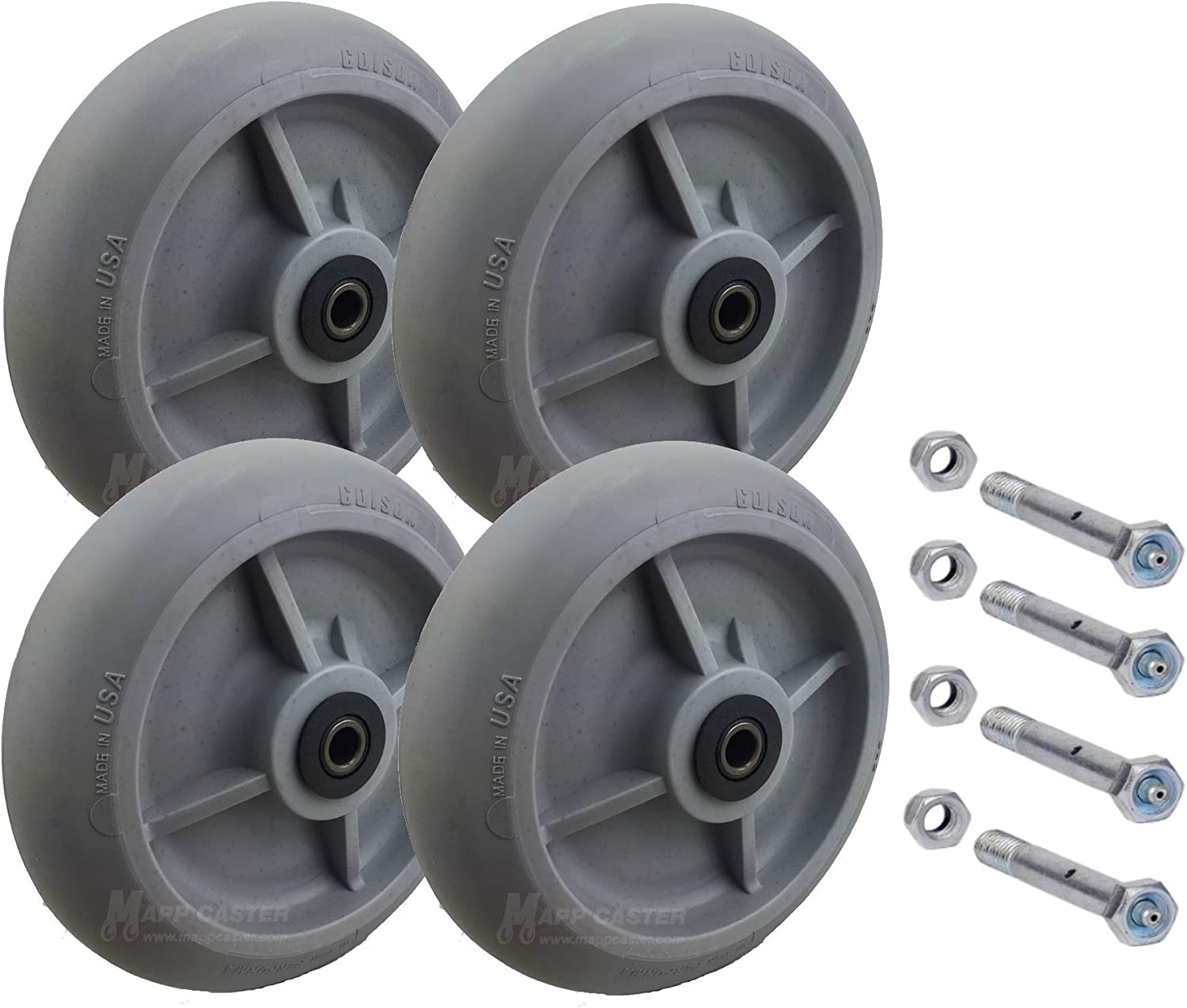 USA Made Drywall /& Sheetrock Dolly Wheels with Axles Set of 4