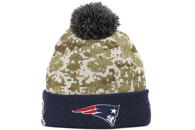 716184020c4 New Era Men s NFL 2015 New England Patriots Salute to Service Knit Hat Digi  Camo Size