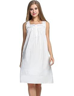Hotouch Women s Comfort Cotton Nightshirt Sleeveless Sleepwear Nightgowns S- XXL 21d754e89