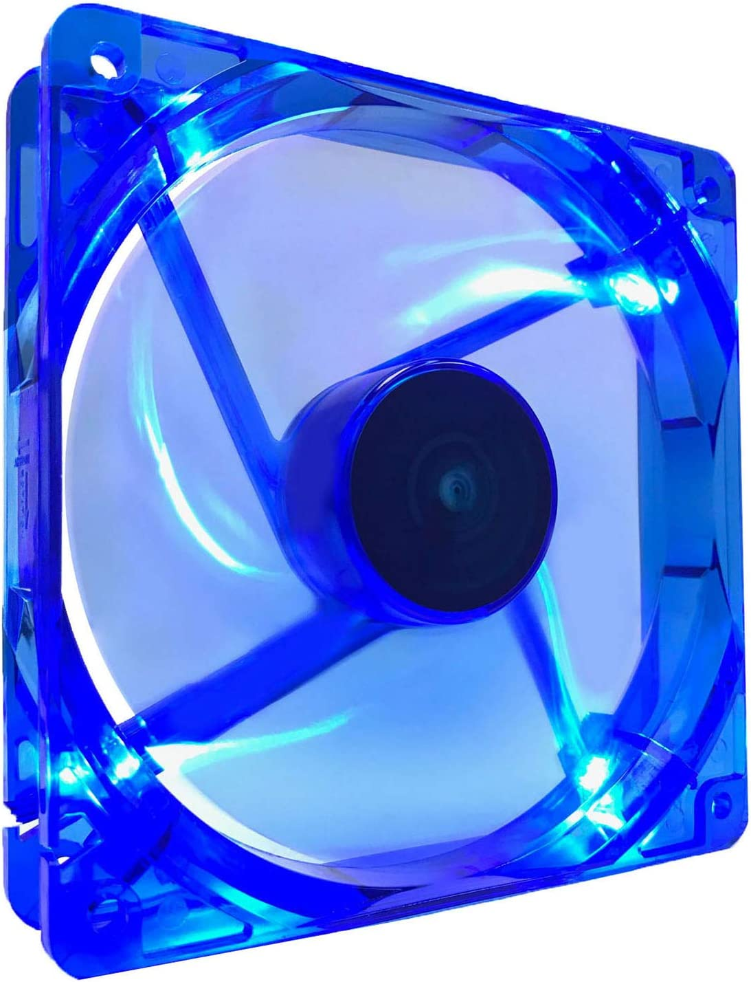 APEVIA CF12SL-UBL 120mm 4pin Molex + 3pin Motherboard Ultra Blue LED Case Fan