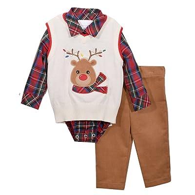 e182a427a27f Bonnie Jean Boys Reindeer Sweater Pants Set 3 pc set (24 months)
