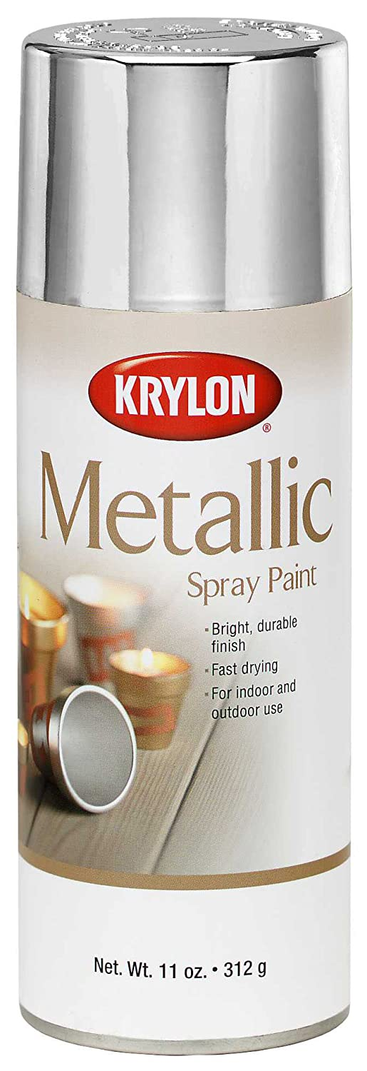 Krylon K01406 General Purpose Aerosol, 11-Ounce, Silver Metallic Finish