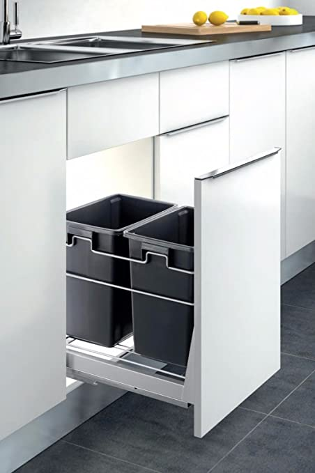 Amazon.com : Double Container Kitchen Cabinet Pull Out Trash ...