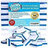 (25 Pack) Extra Durable Eraser Sponge - Extra Thick, Long Lasting, Premium Melamine Sponges in Bulk - Multi-Purpose Power Scr