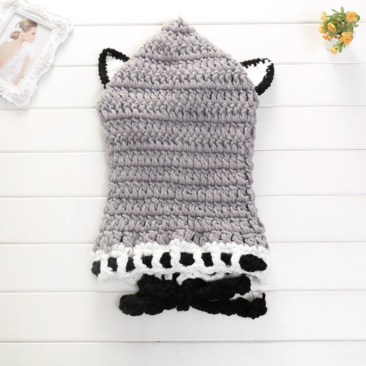 LUOEM Cappello Berretto per bambini e neonati in maglia di lana con  scaldacollo e orecchie di volpe in Grigio  Amazon.it  Casa e cucina 5b925f524e6c