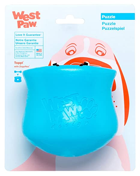 Incentives Floated For Treating People >> Amazon Com West Paw Toppl Tough Dog Chew Toy Blue Large Pet