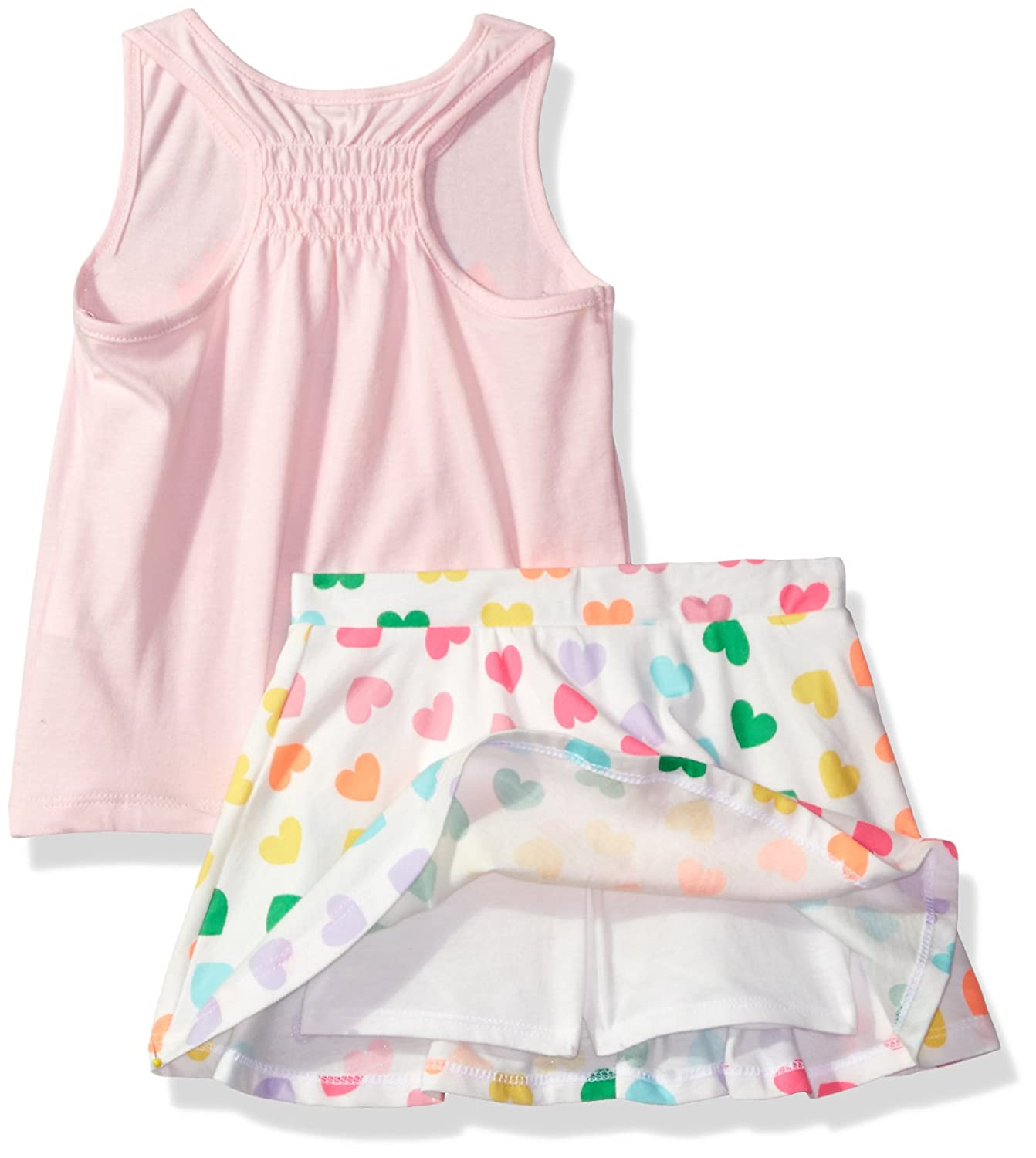 The Childrens Place Girls Sleeveless Top and Tiered Skirt Outfit Set