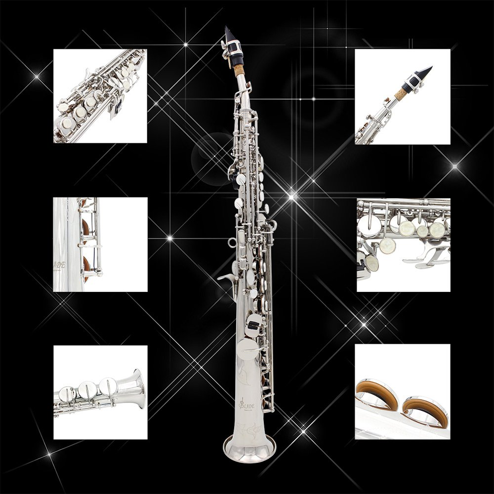 LADE Soprano Saxophone SAX Bb Brass Lacquered Body and Keys with Lubricating Cork Grease by LADE (Image #3)