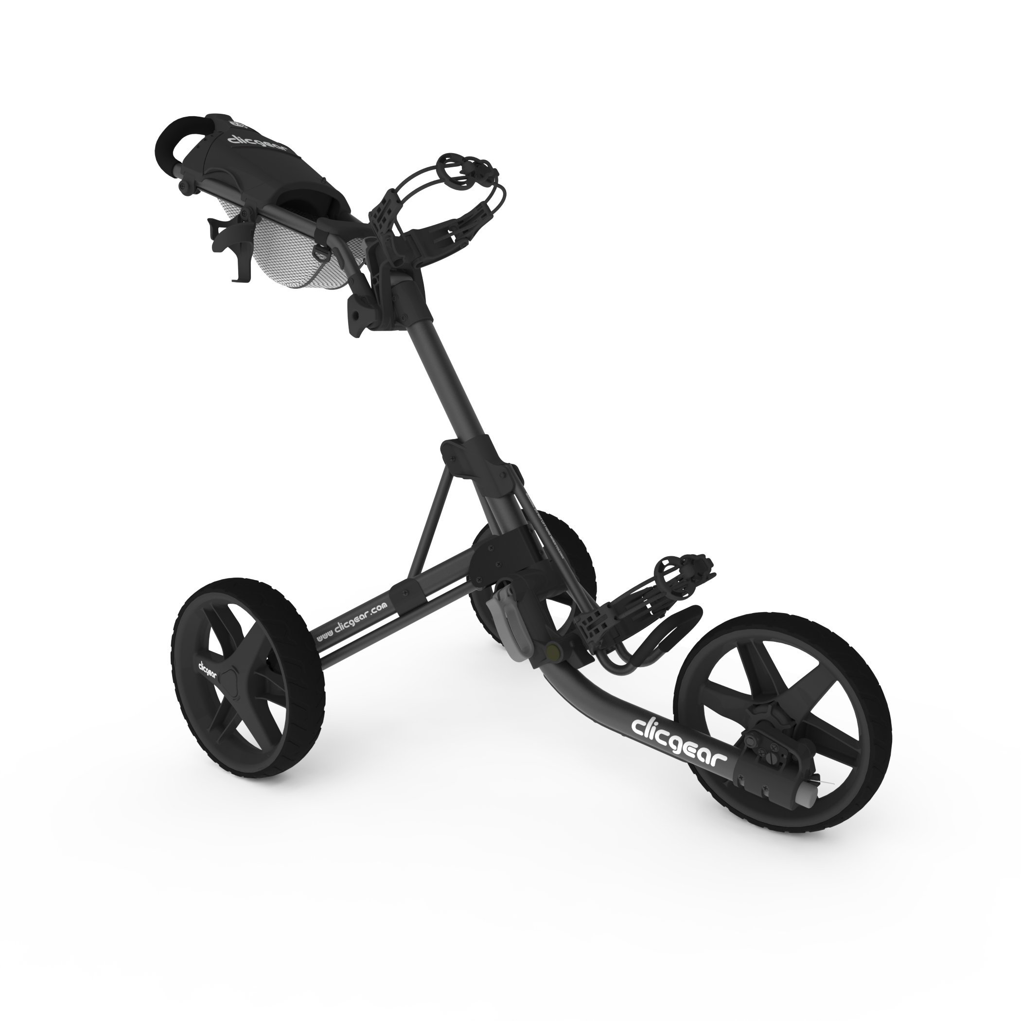 Clicgear Model 3.5+ | 3-Wheel Golf Push Cart  (Charcoal/Black) by Clicgear