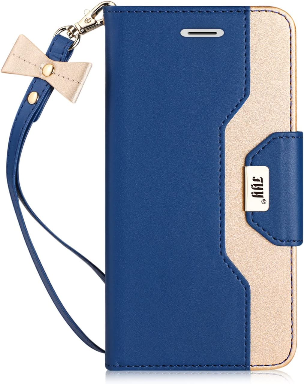 FYY Leather Case with Mirror for iPhone 8/iPhone 7/iPhone SE (2nd) 2020 4.7