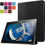 ERLI Lenovo Tab 2 X30F A10-30 Funda, Ultra delgado Smart Funda Carcasa con Stand Función y Auto-Sueño/Estela para Lenovo Tab 2 X30F A10-30 Android Tablet pulgadas (Negro)