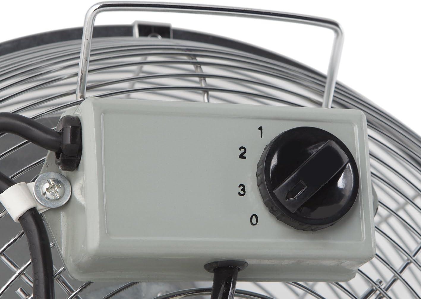 Orbegozo PWS/ 3/vitesses Diam/ètre dh/élice/: 50/cm Noir//argent/é puissance 130/W /Ventilateur de pied Industrial Power Fan