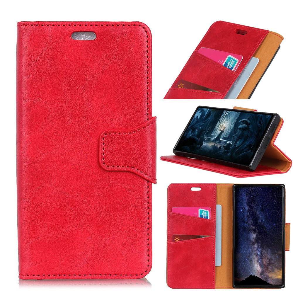 TOTOOSE LG K4 2017 (European Version) Case, [Portable Wallet ] [ Slim Fit ] Heavy Duty Protective Women Flip Cover Wallet Case for LG K4 2017 (European Version) - Red