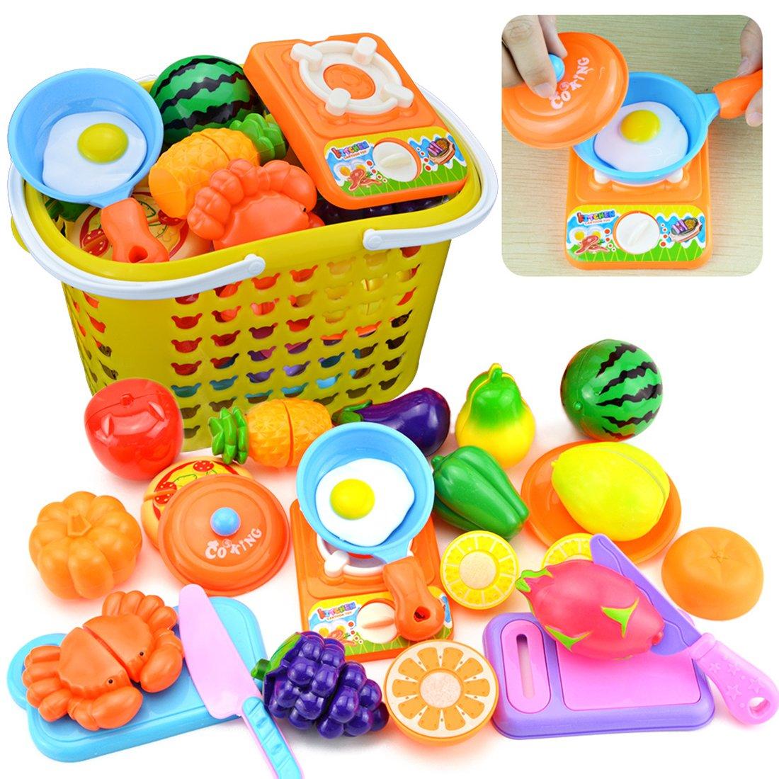 Küchenspielzeug, Likeluk 23 Stück Kinder Schneiden Obst Gemüse ...