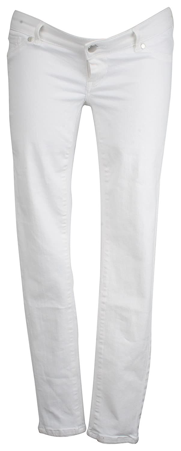 Ex-Store Maternity Multiway Skinny Jeans White