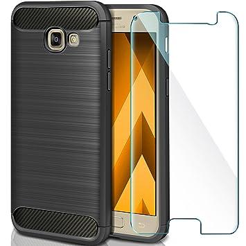 AROYI Funda Samsung Galaxy A5 2017 + Cristal Templado, Carcasa Samsung A5 2017 Carcasa & 1 Pack Protector de Pantalla Cristal Templado 9H Dureza + ...