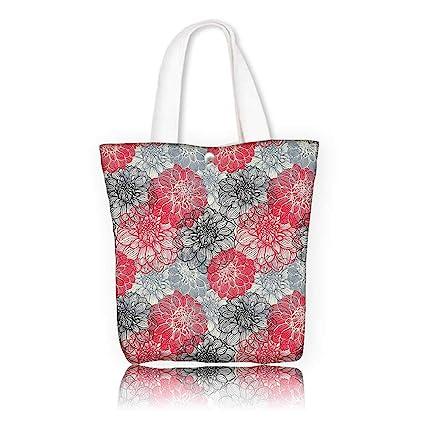 Amazon.com  Stylish Canvas Zippered Tote Bag -W12 x H7.8 x D3 INCH ... 98263d1bebdd3