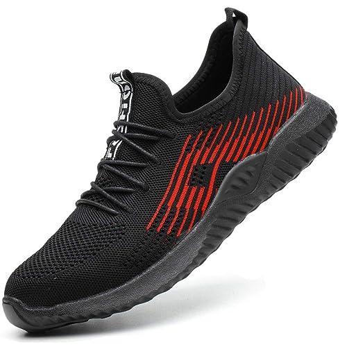 Superwl Zapatillas de Seguridad para Hombre Deportivas S3 Calzado Seguridad Mujer con Puntera de Acero Zapato Seguridad Talla 35 50