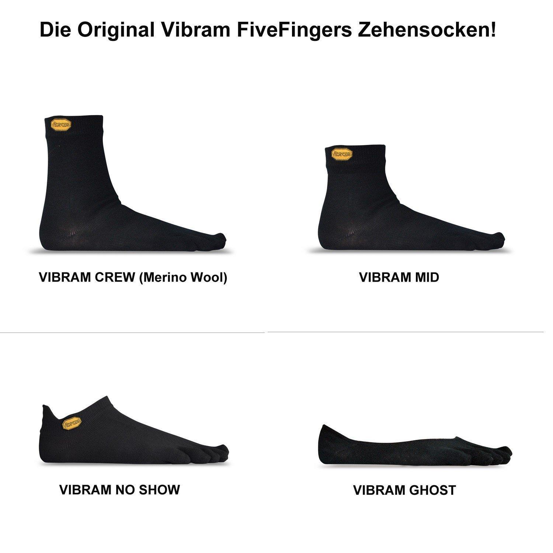 Calcetines de dedos unisex Vibram FiveFingers Original No Show, calcetines para correr, todos los colores, color gris, tamaño M (38-41): Amazon.es: Deportes ...
