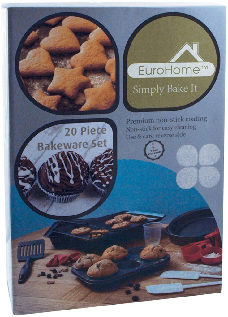 EuroHome Bakeware Set - 20 Piece Case Pack 4, NEW