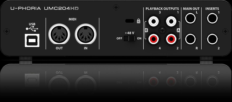 Behringer UMC204HD - U-phoria interface de audio/midi usb umc-204hd