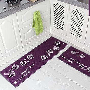 Levoberg 2 Pieces Tapis Cuisine Antiderapant Absorbant Tapis De Sol Devant Evier Machine Lavable 40 60 40 120cm 3