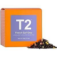 T2 Tea Black Tea, French Earl Grey Loose Leaf Black Tea in Box, 3.5 Ounce (100g), 1 x 100 g