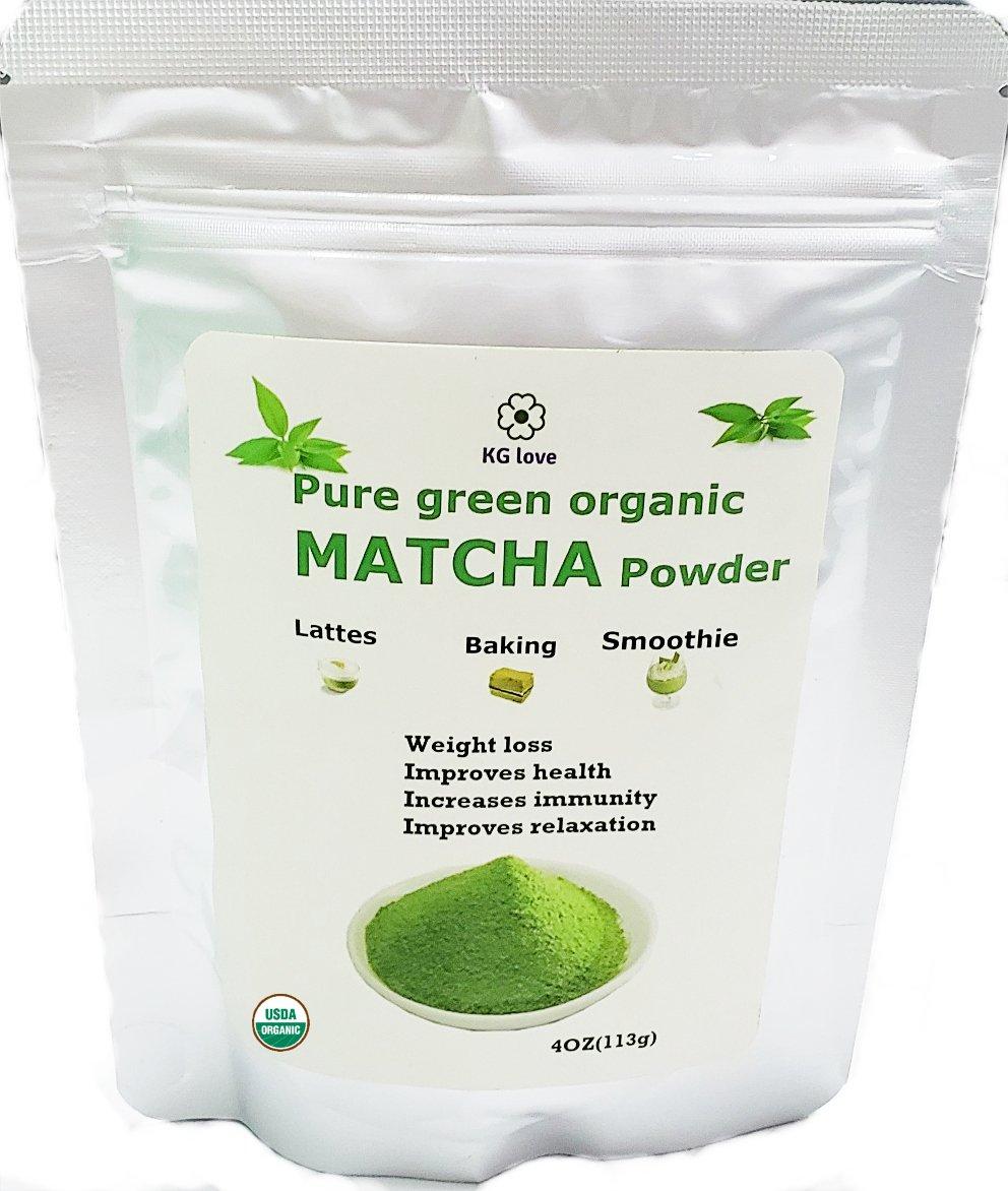 Matcha Powder, Matcha Green Tea, Matcha Green Tea Powder - The Best 100% Organic Matcha Green Tea Powder - USDA Organic, Vegan, No GMO, Boost Metabolism & Burns Fat, Antioxidant, Natural Food Co by KG love