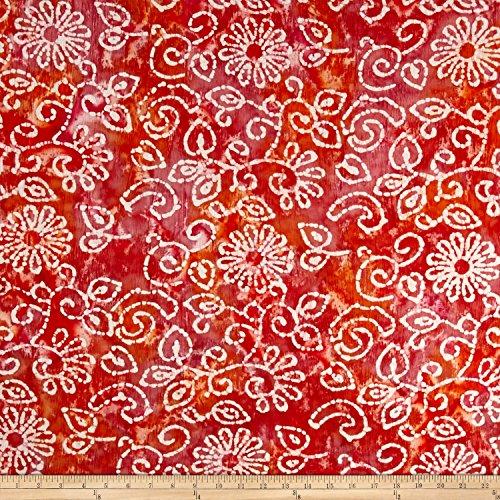 White Batik Floral Dress - 2