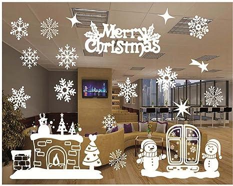 Decorazione Finestre Per Natale : Natale adesivi display rimovibile natale addobbi murali fai da te