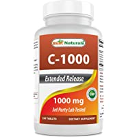 Best Naturals Vitamin C 1000 mg 240 Tablets with Rose hips, Bioflavonoids, Acerola & Rutin