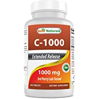 Best Naturals Vitamin C 1000 mg 240 Tablets with Rose Hips, Bioflavonoids, Acerola...
