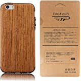 【TaoTech】 iPhone5 iPhone5s iPhoneSE 4.0インチ 対応 高級 天然木製 薄型 木目 木製 木調 シリコン iPhone木製 ケース(iPhone5/5s/SE, 樺桜)