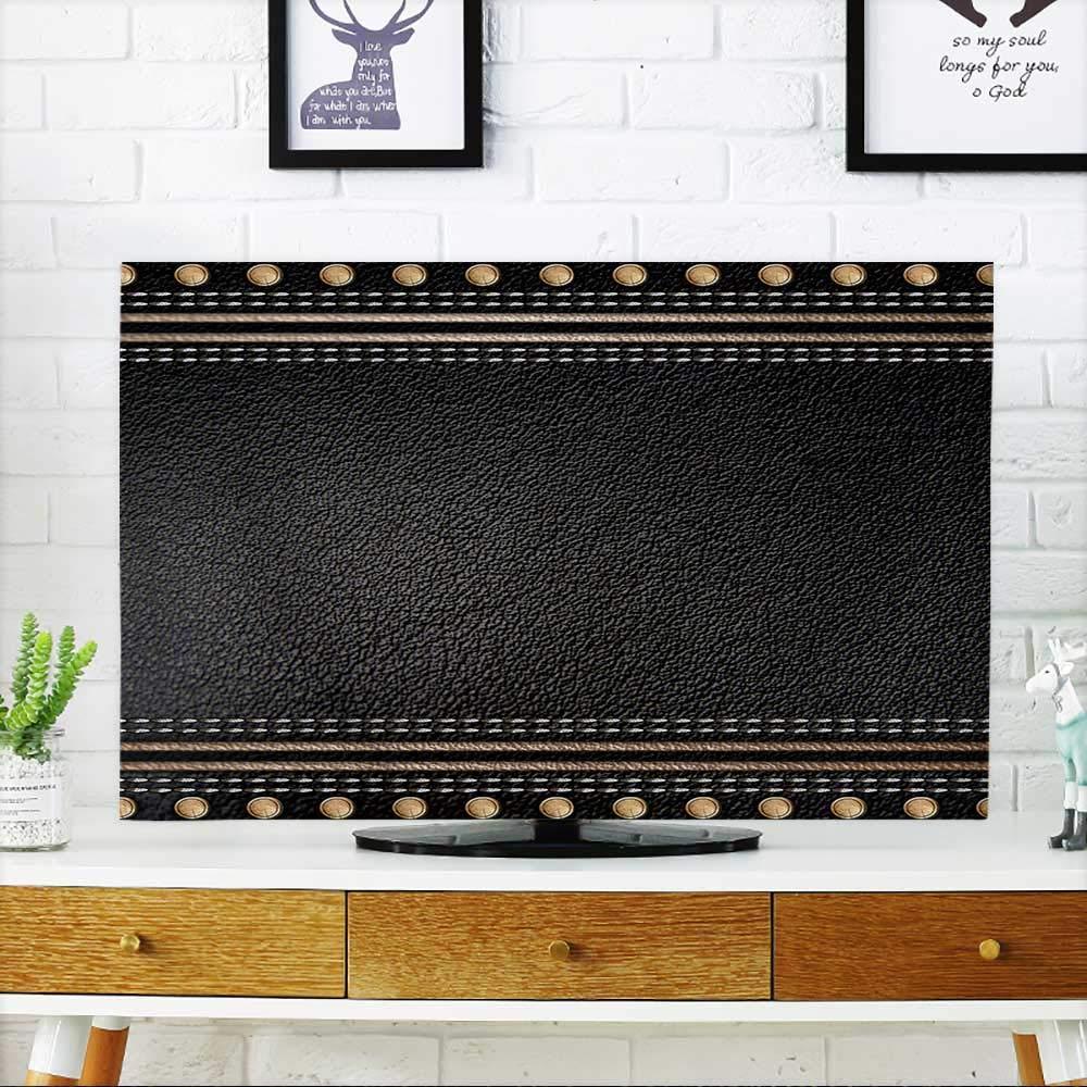 PRUNUS あなたのTVを保護 レザーテクスチャ 背景 TV W19 x H30 インチ/TV 32インチ W35 x H55 INCH/TV 60
