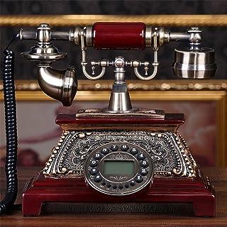 golden Retro Schnurgebundenes Festnetztelefon Nostalgietelefon mit LCD Display f/ür Tischdeko Garsent Vintage Telefon