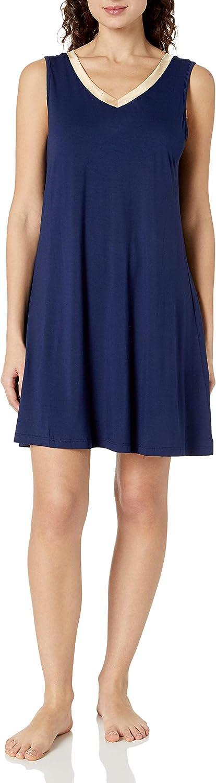 GYS Womens Bamboo Nightgown Sleeveless Soft Nightdress