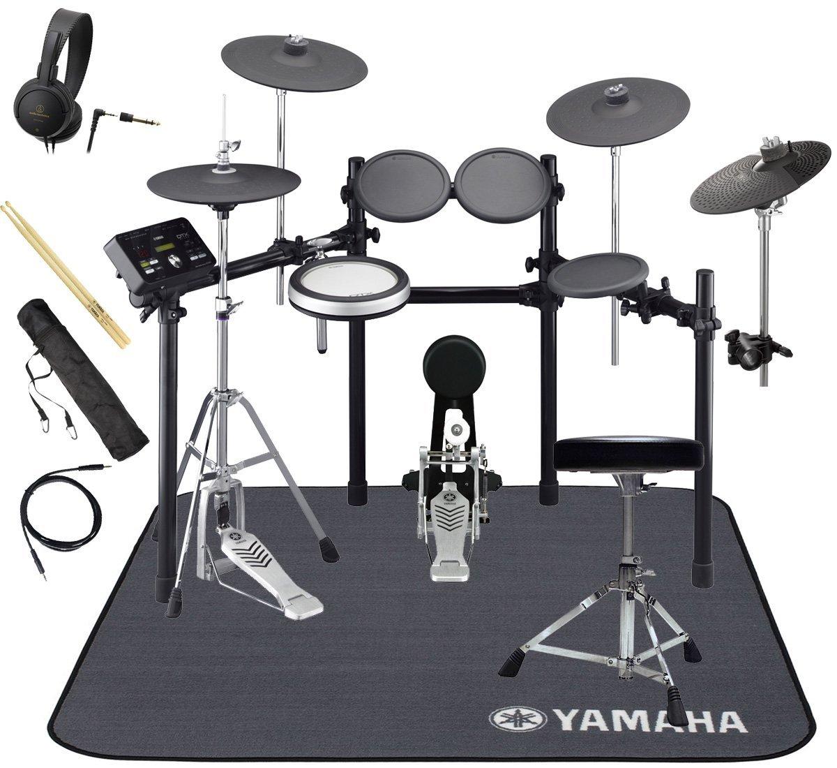YAMAHA 電子ドラム DTX532KFS 3シンバル オリジナルスターターパック 純正マットセット   B07G12VTSS