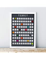 Gift Republic 100 Scratch Off Bucket List Poster