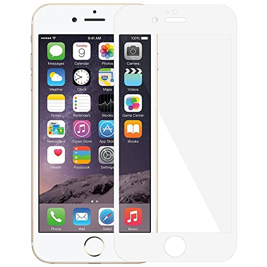Amzer AMZ97472 Kristal Edge2Edge Tempered Glass for Apple iPhone 6 (White) Screen guards at amazon