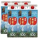 青研 葉とらずりんご100 (1000ml× 6本)