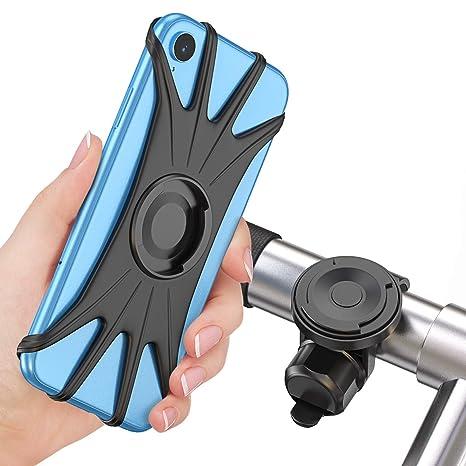 Cocoda Soporte Movil Bici, Soporte Móvil Moto Bicicleta 360° Rotación Magnética Desmontable [Pantalla Completa Amigable] Porta Movil Motocicleta ...