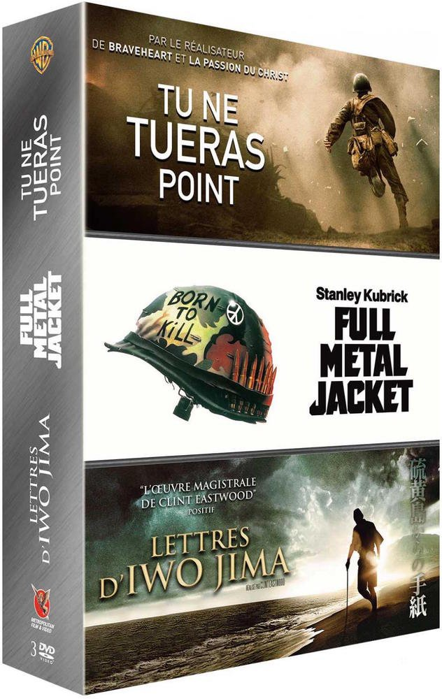 Tu ne tueras point + Lettres d'Iwo Jima + Full Metal Jacket [Francia] [DVD]