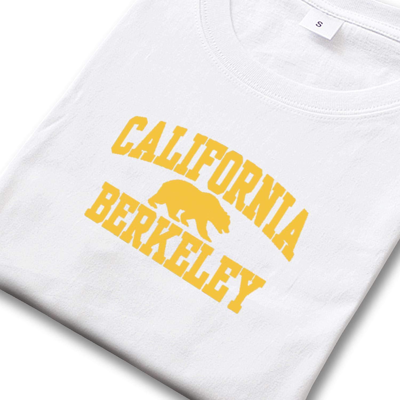 Mens California Berkeley T Shirts Printed Workout Crew Neck Short Sleeve Tees Tops