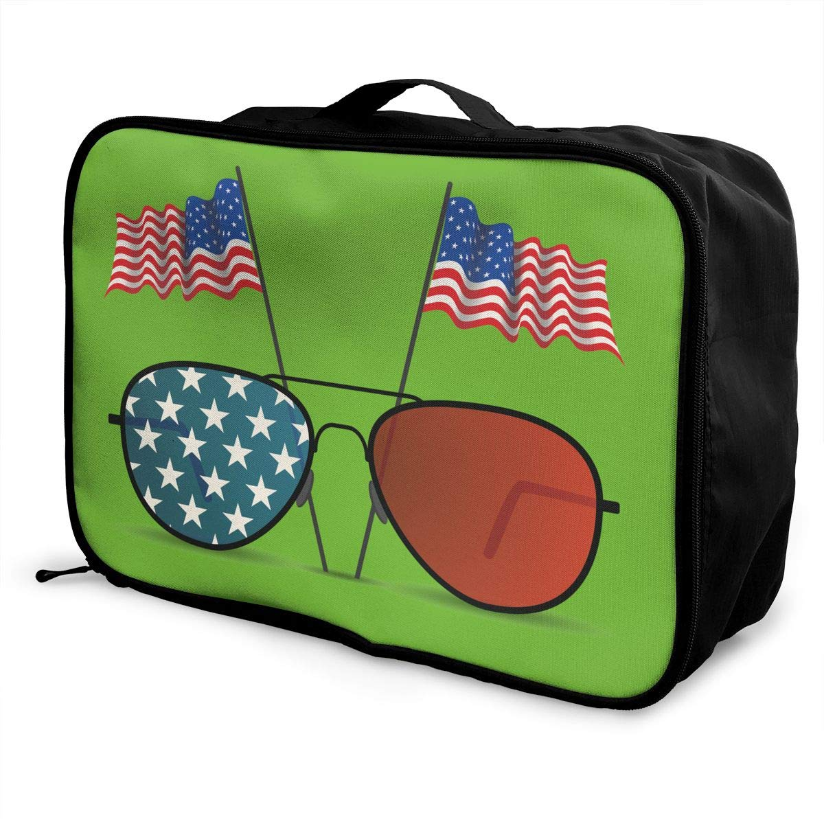 Travel Luggage Duffle Bag Lightweight Portable Handbag United States Flag Large Capacity Waterproof Foldable Storage Tote