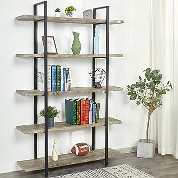6 Tire Wood Shelf Bookshelf case Tall Wide Display Brown Solid Grocery Rack USA~