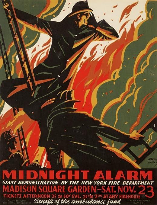 Amazon.com: Midnight Alarm Vintage Poster (artist: Colas ...
