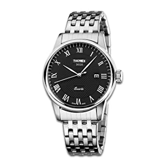 Amazon.com: Reloj de pulsera para hombre con números romanos ...