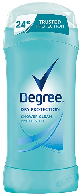 Degree Dry Protection Anti-Perspirant & Deodorant, Shower Clean 2.6 oz (Pack of 6)